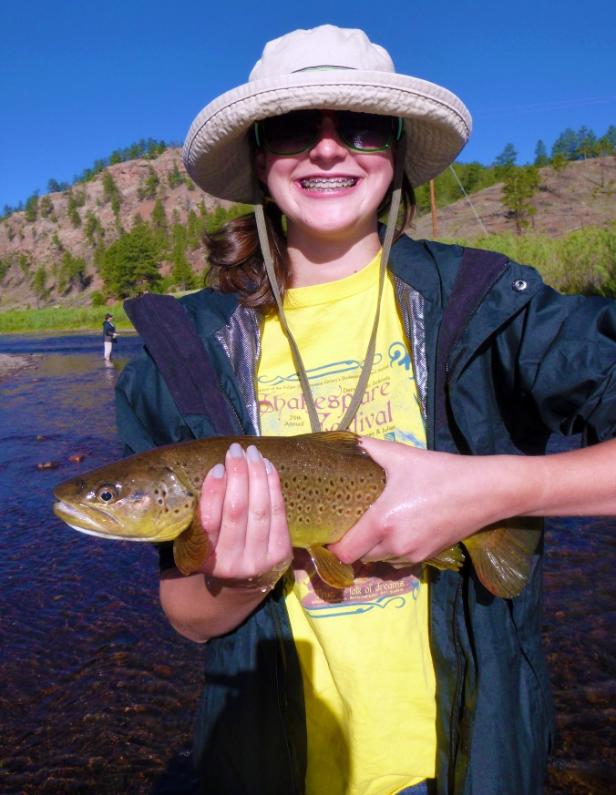 If there is a girl on the river, no trout is ever safe!!