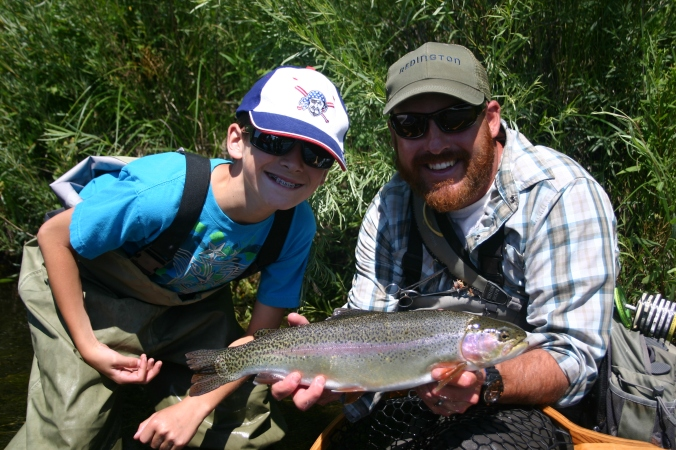 A fun day with a great rainbow on the South Platte.